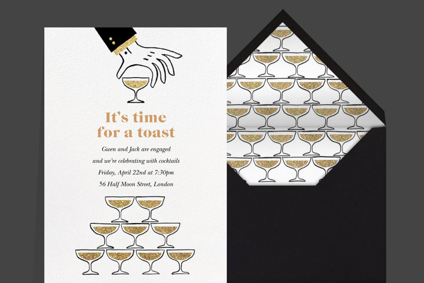 vineyard engagement invitations from Paperless Post