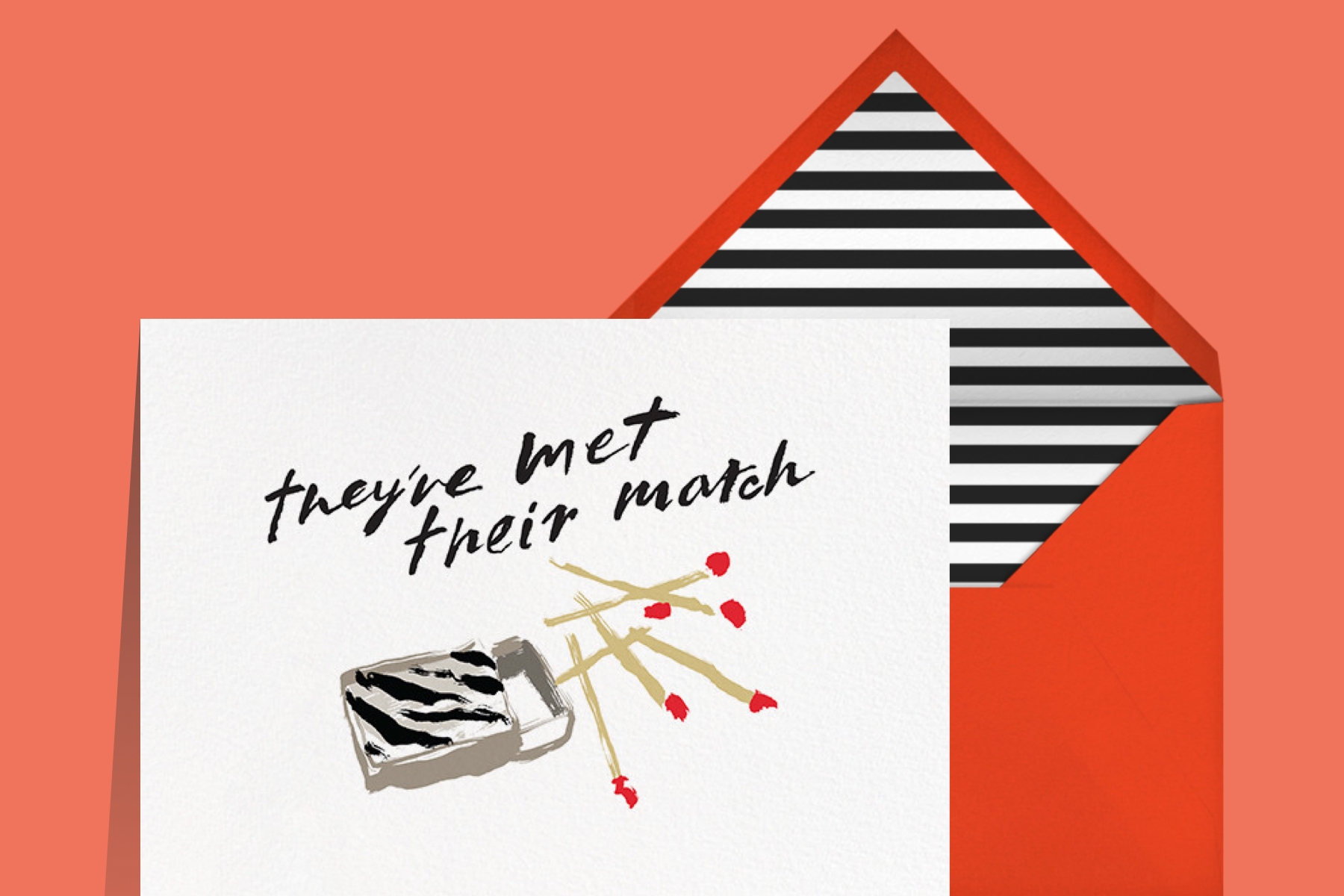 kate spade new york x Paperless Post engagement invitation