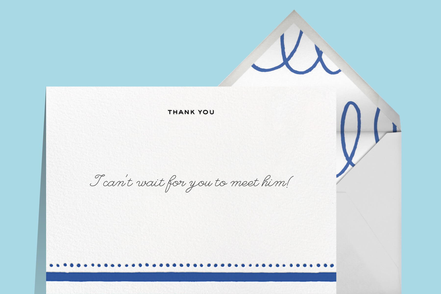 Baby boy baby shower thank you note