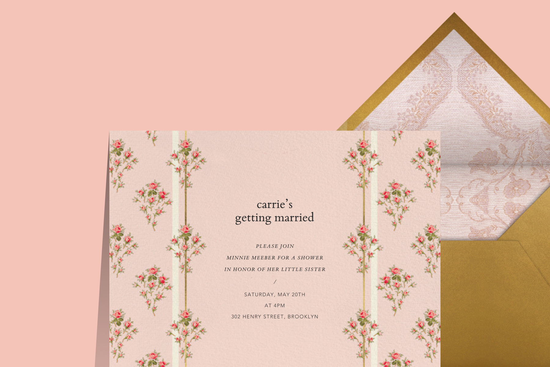 Brock Collection bridal shower invitation from Paperless Post