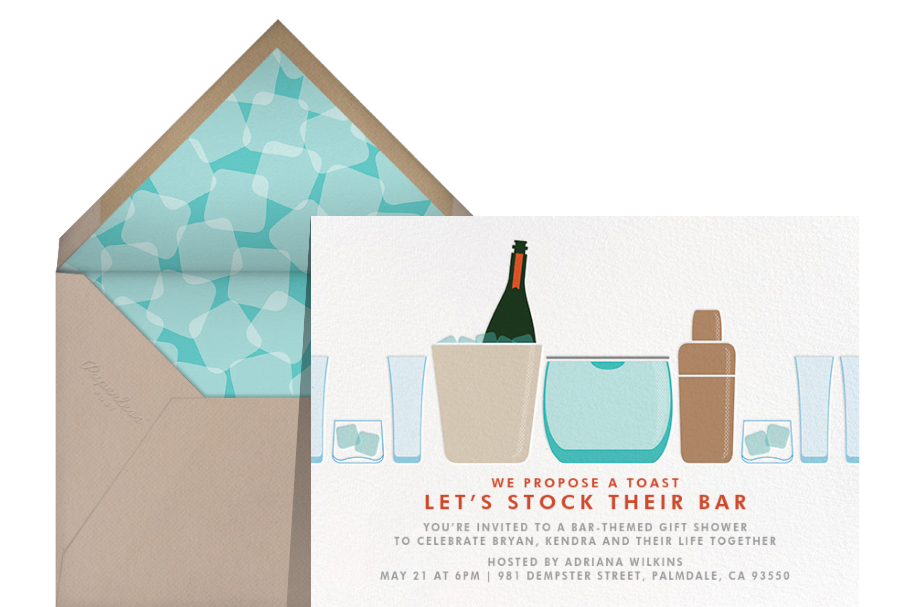 """""""Party on Ice"""" by Crate & Barrel for Paperless Post"""