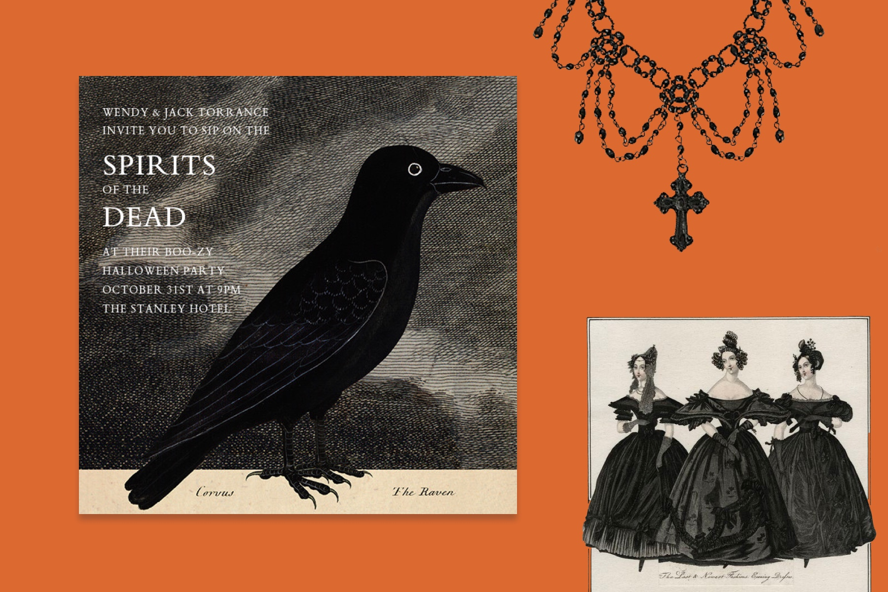A very virtual Victorian affair and other chic Halloween party ideas