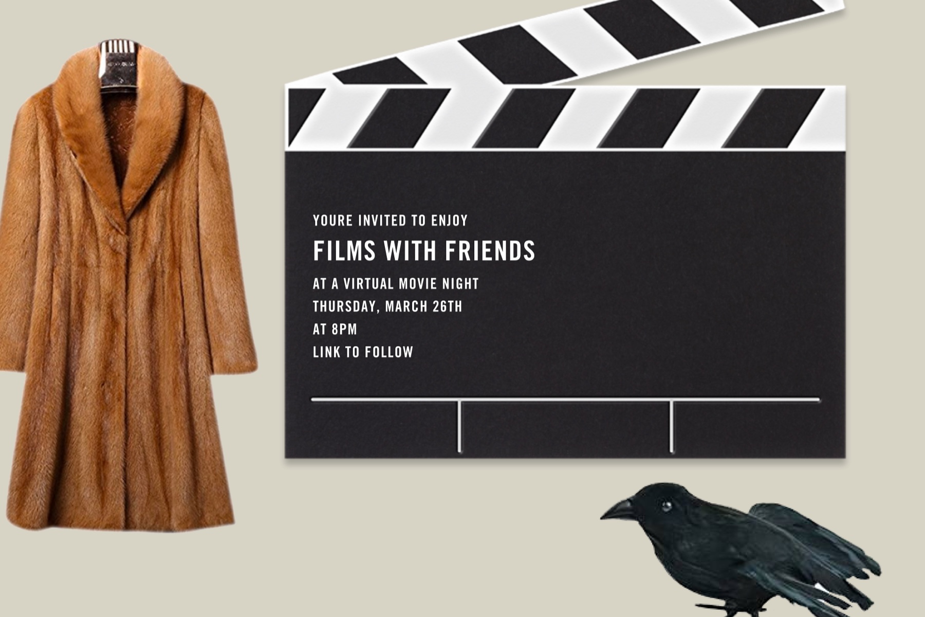 virtual movie screening and other chic Halloween party ideas from Paperless Post
