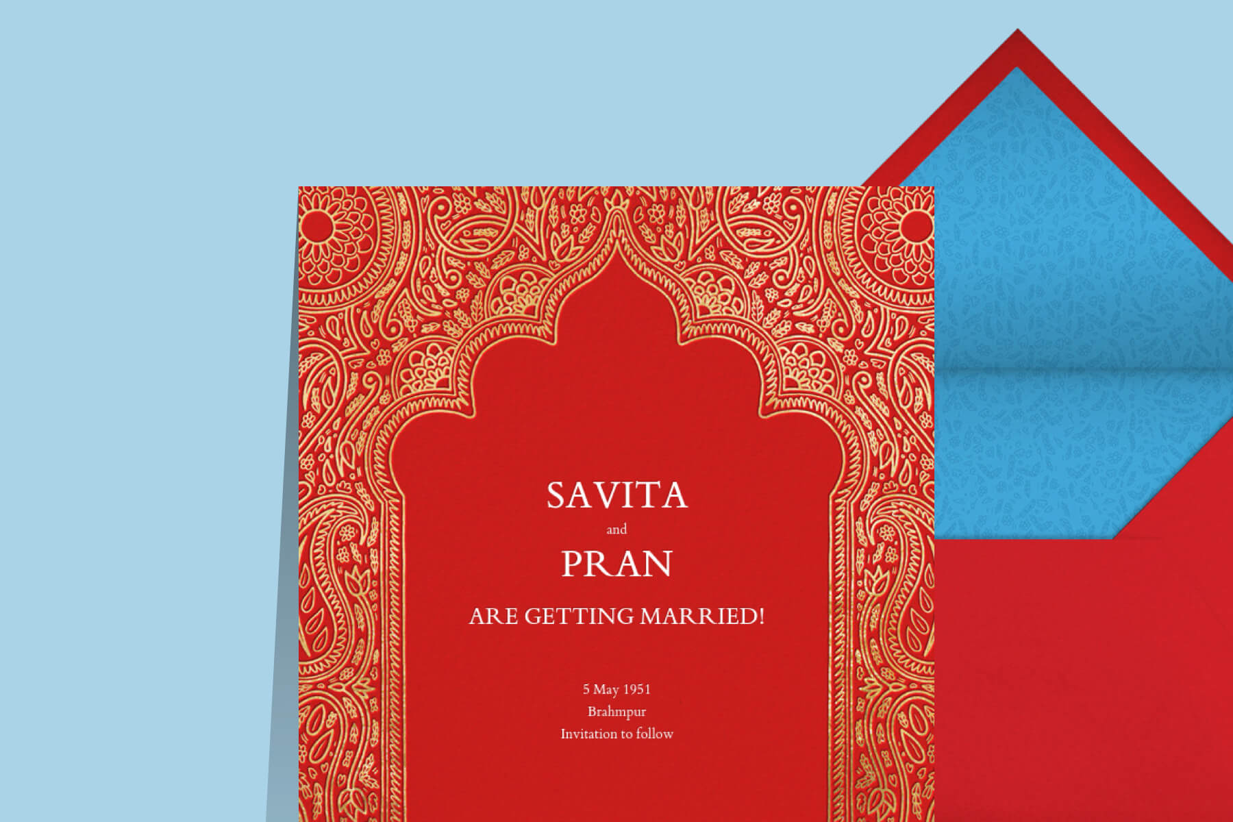 Indian wedding invitation Paperless Post