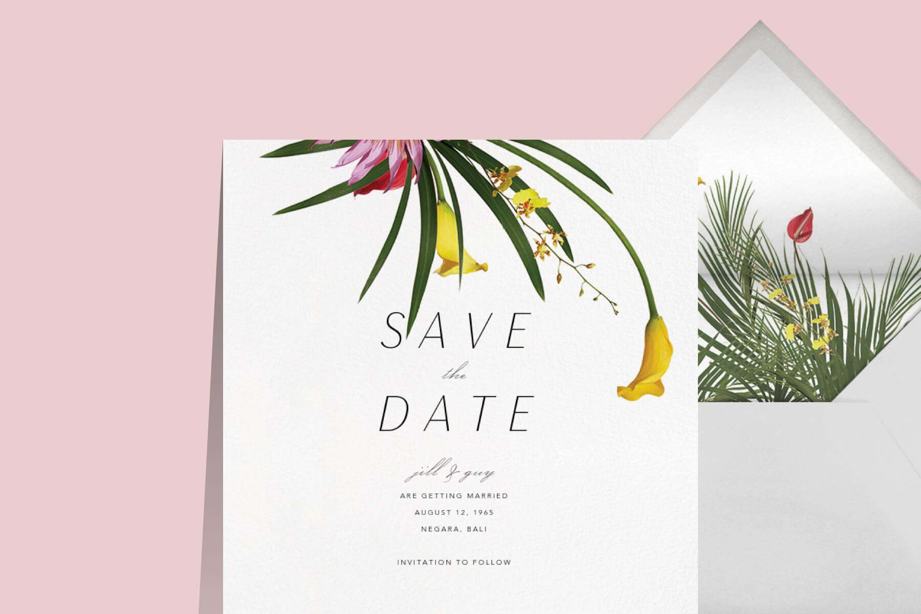 tropical wedding invitation Paperless Post