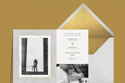 Engagement party 101: invitations from Paperless Post