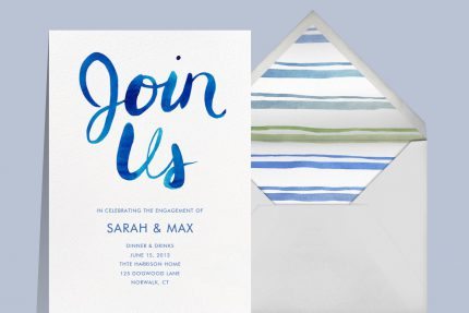 Engagement party invitations that spark romance from Paperless Post