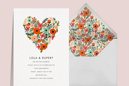engagement party invitations that spark romance by Rifle Paper Co.
