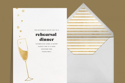 engagement party invitations that spark romance Champagne design