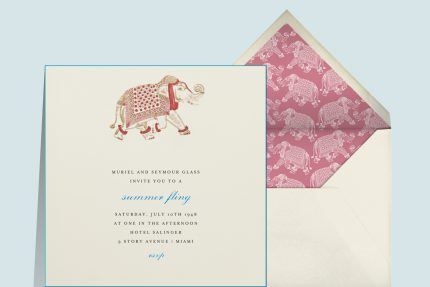 engagement party invitations that spark romance Engraved Elephant