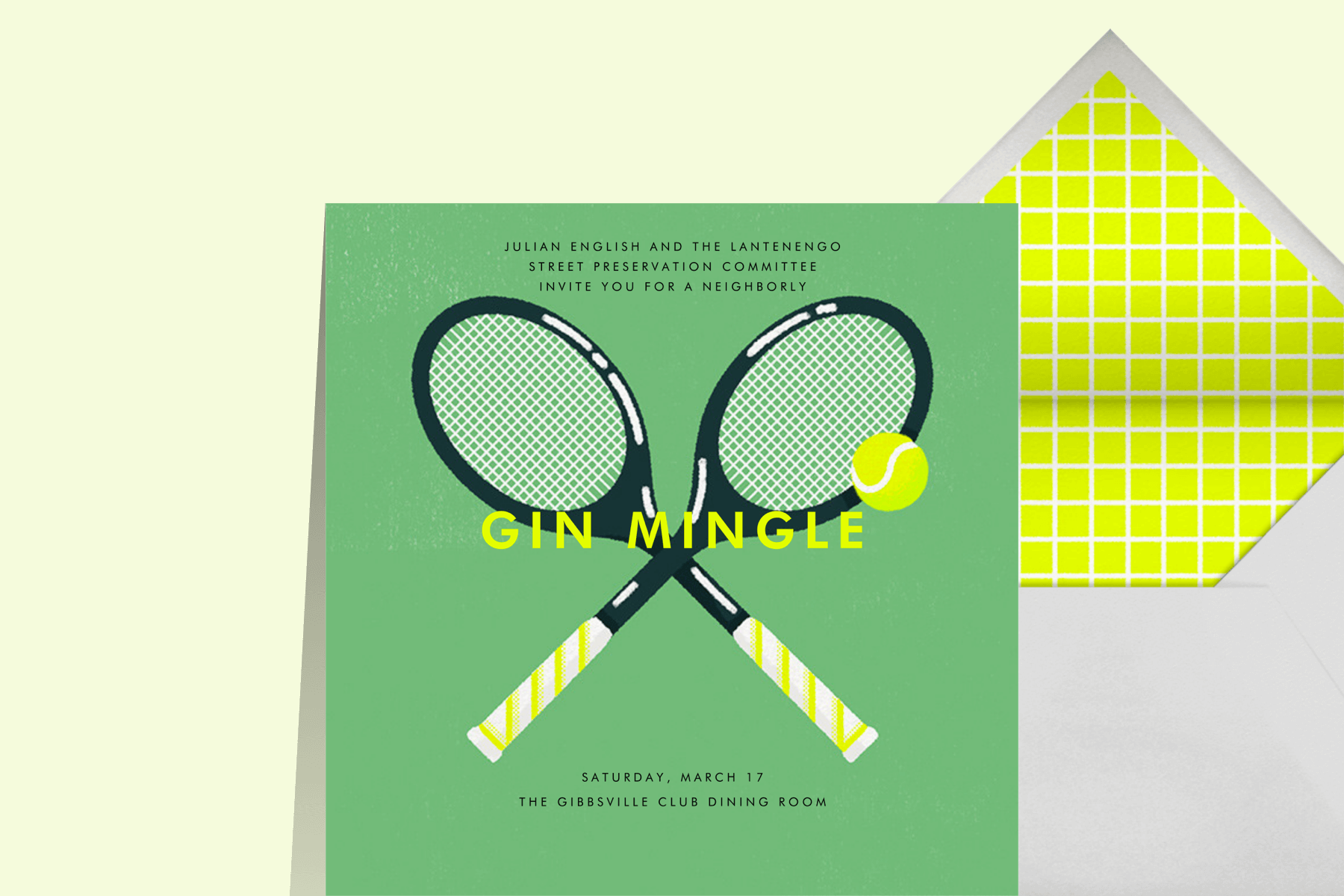 Paperless Post invitation tennis party