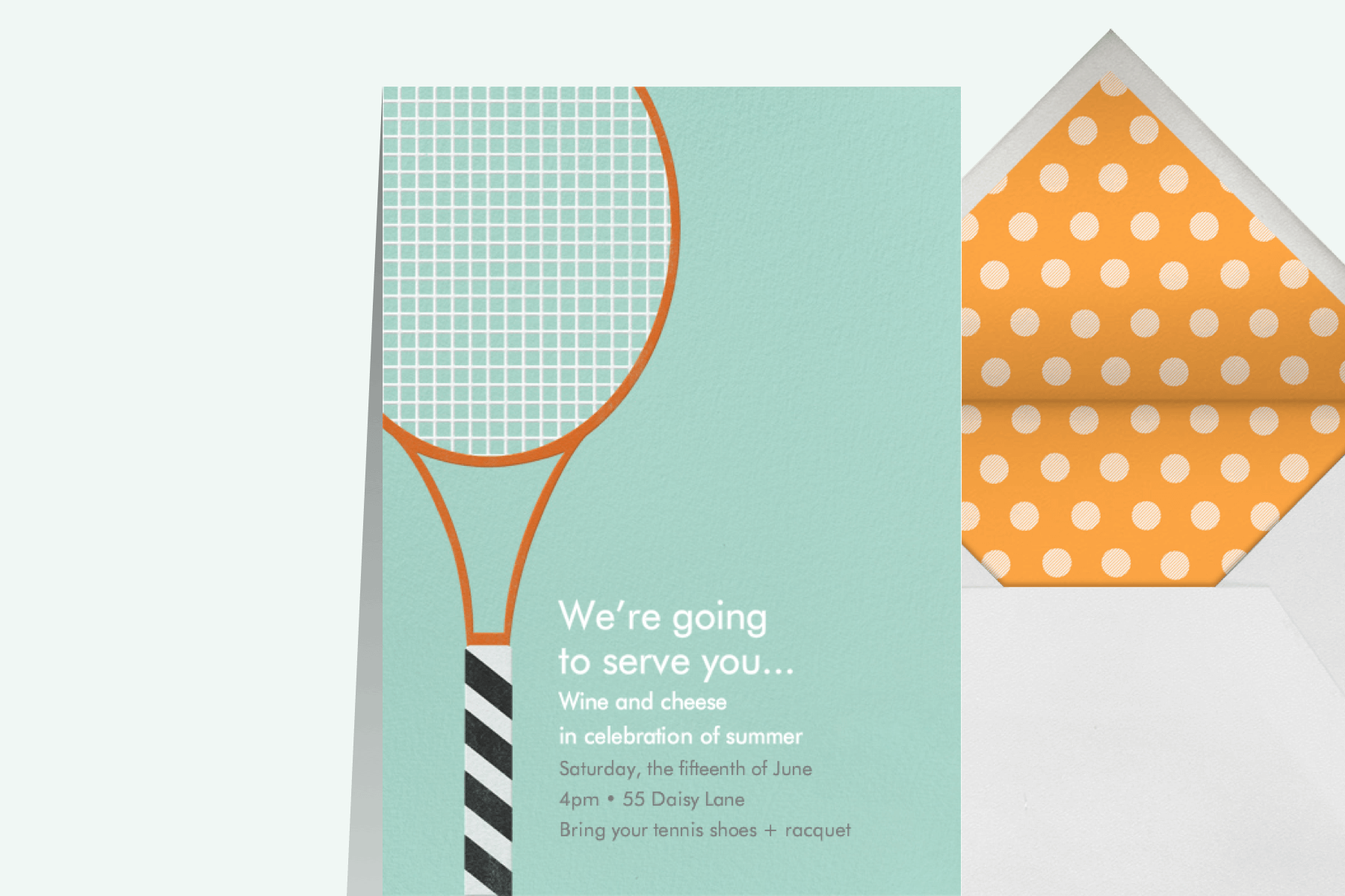 tennis party invitation by Paperless Post