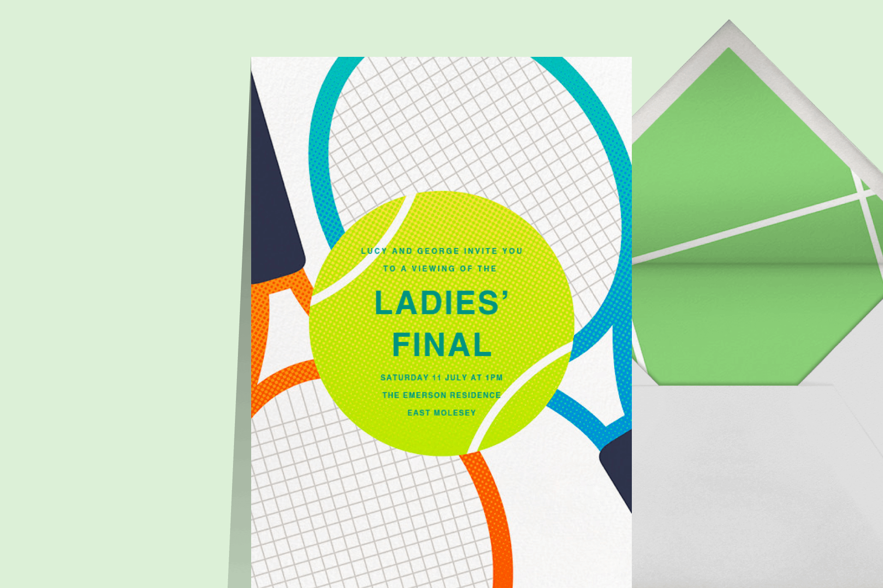Ladies' Final tennis viewing party invitation from Paperless Post