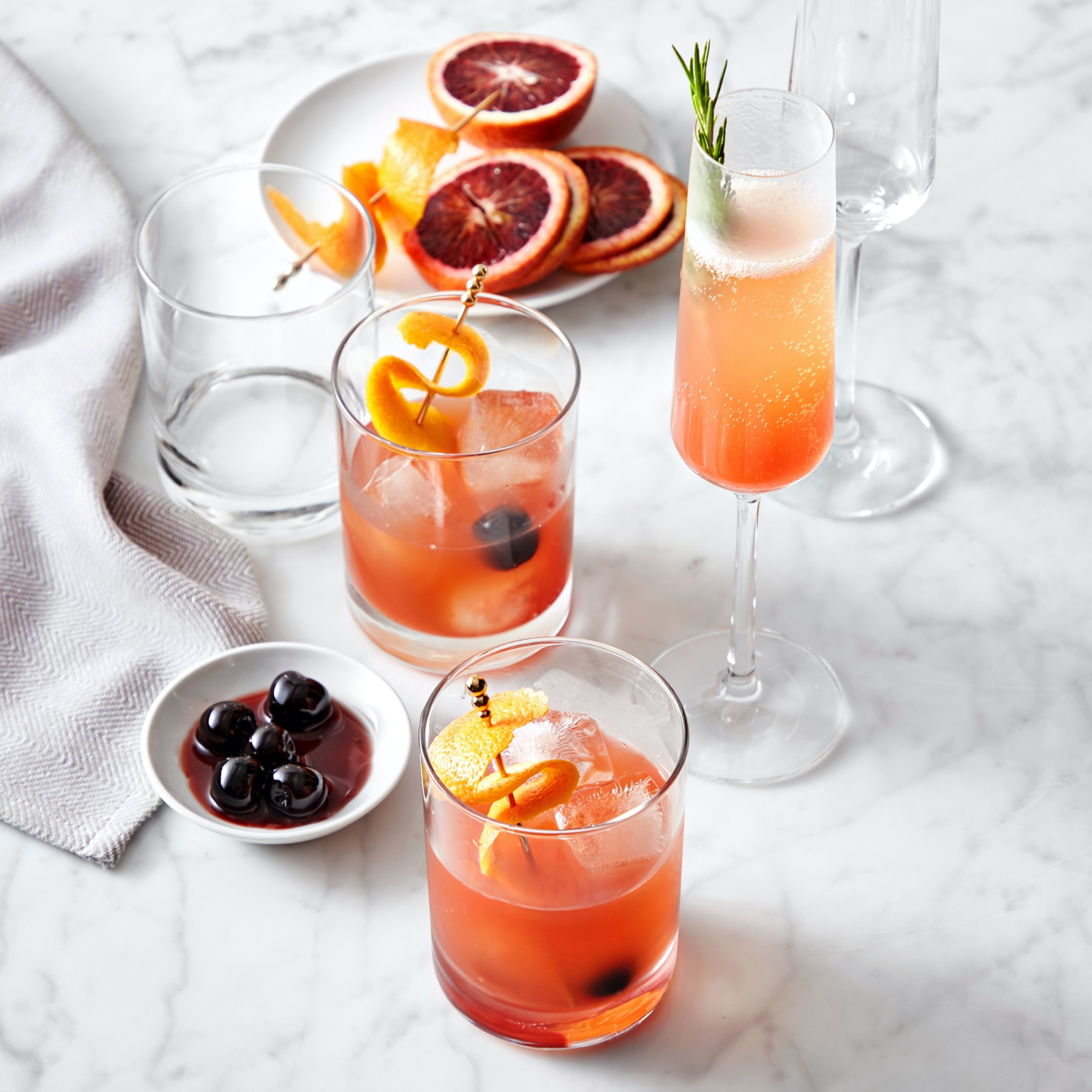 Gaby Dalkin's Blood Orange Peach Two Ways cocktail inspired by the classic spritz
