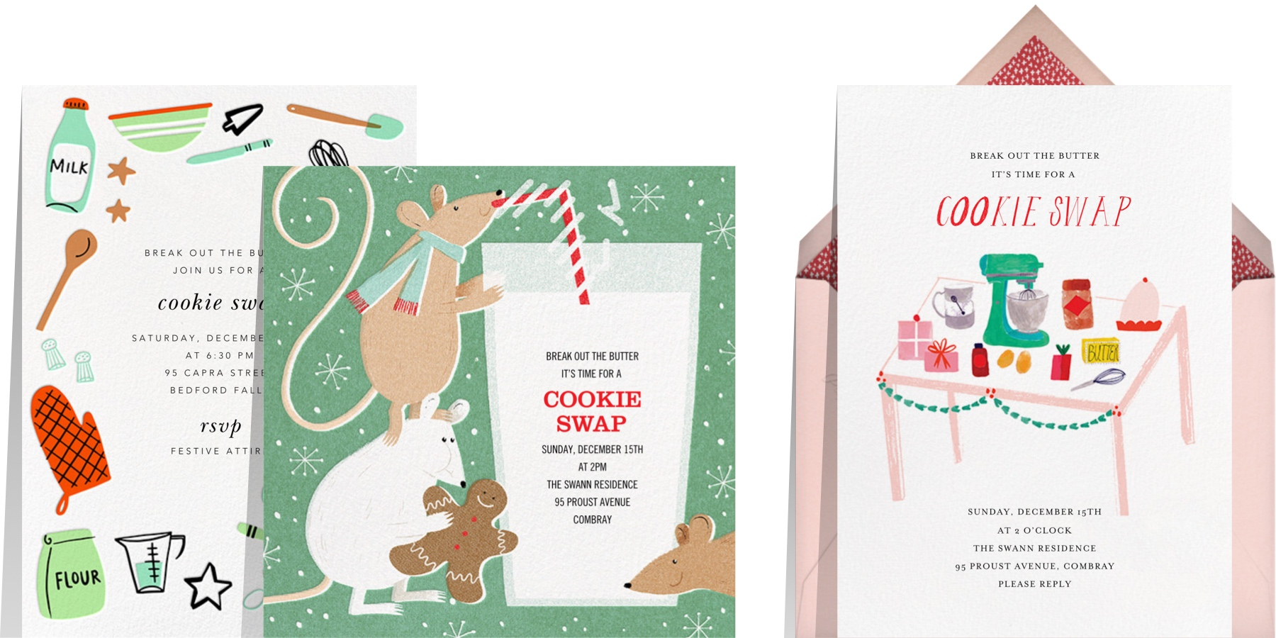 Paperless Post cookie swap party invitations