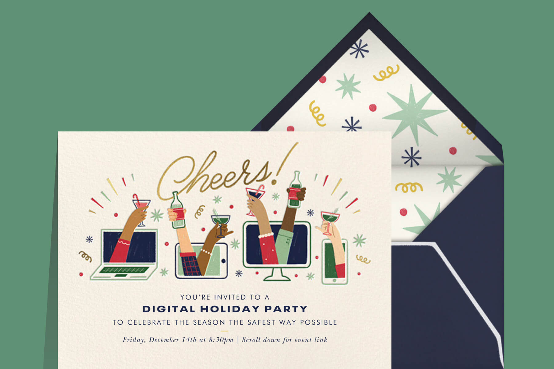 Virtual Christmas Party Invitations