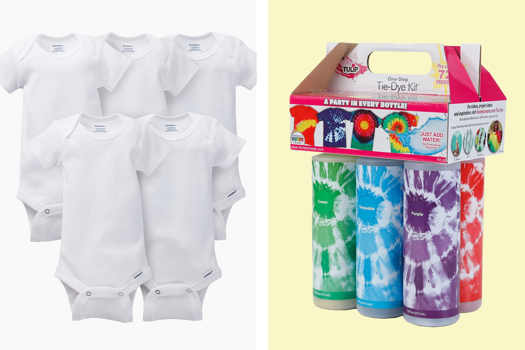 tie dye or decorate onesies as a baby shower activity