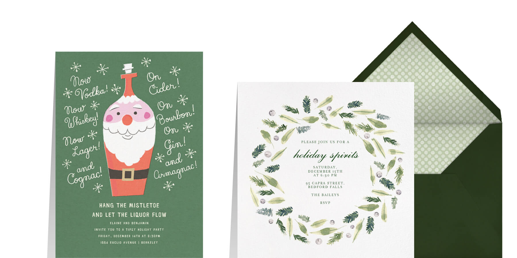 holiday cocktail party ideas from Paperless Post