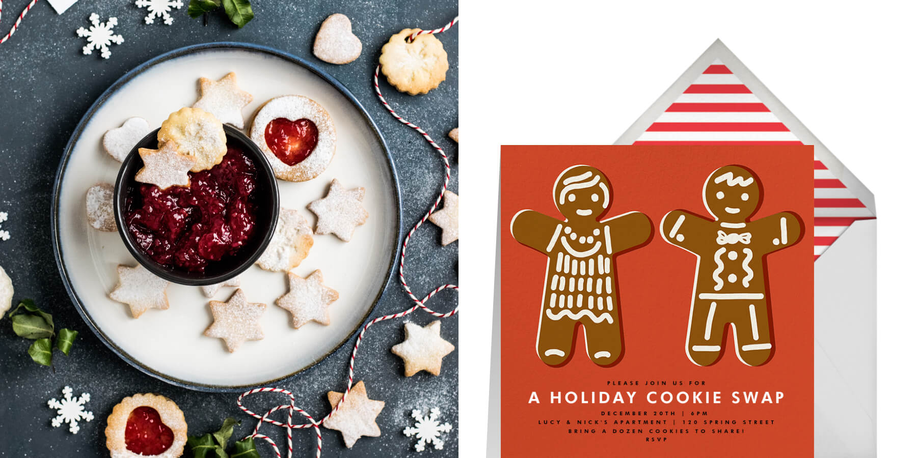 cookie swap invitation from Paperless Post