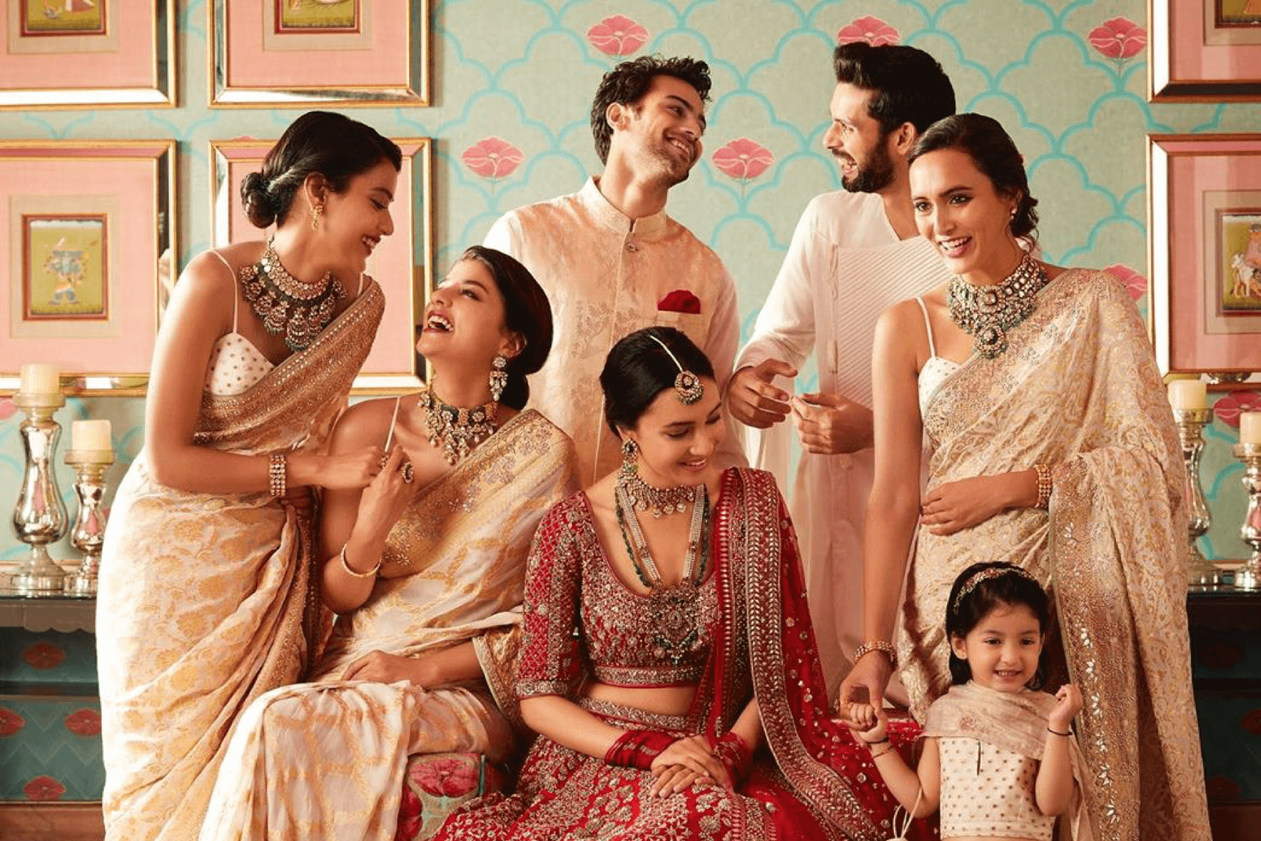 Photo of Indian wedding models in Anita Dongre designs