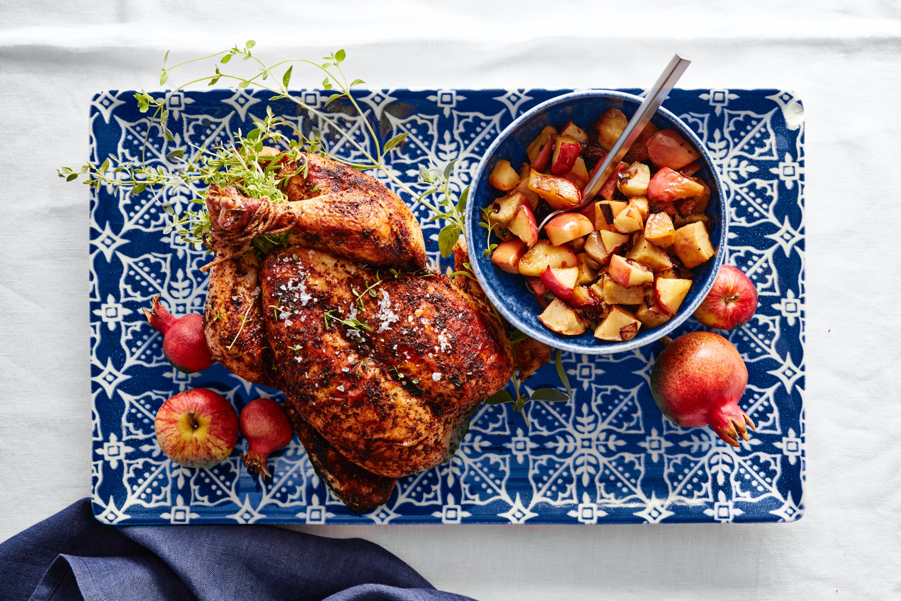 Roasted Spiced Chicken with Apples