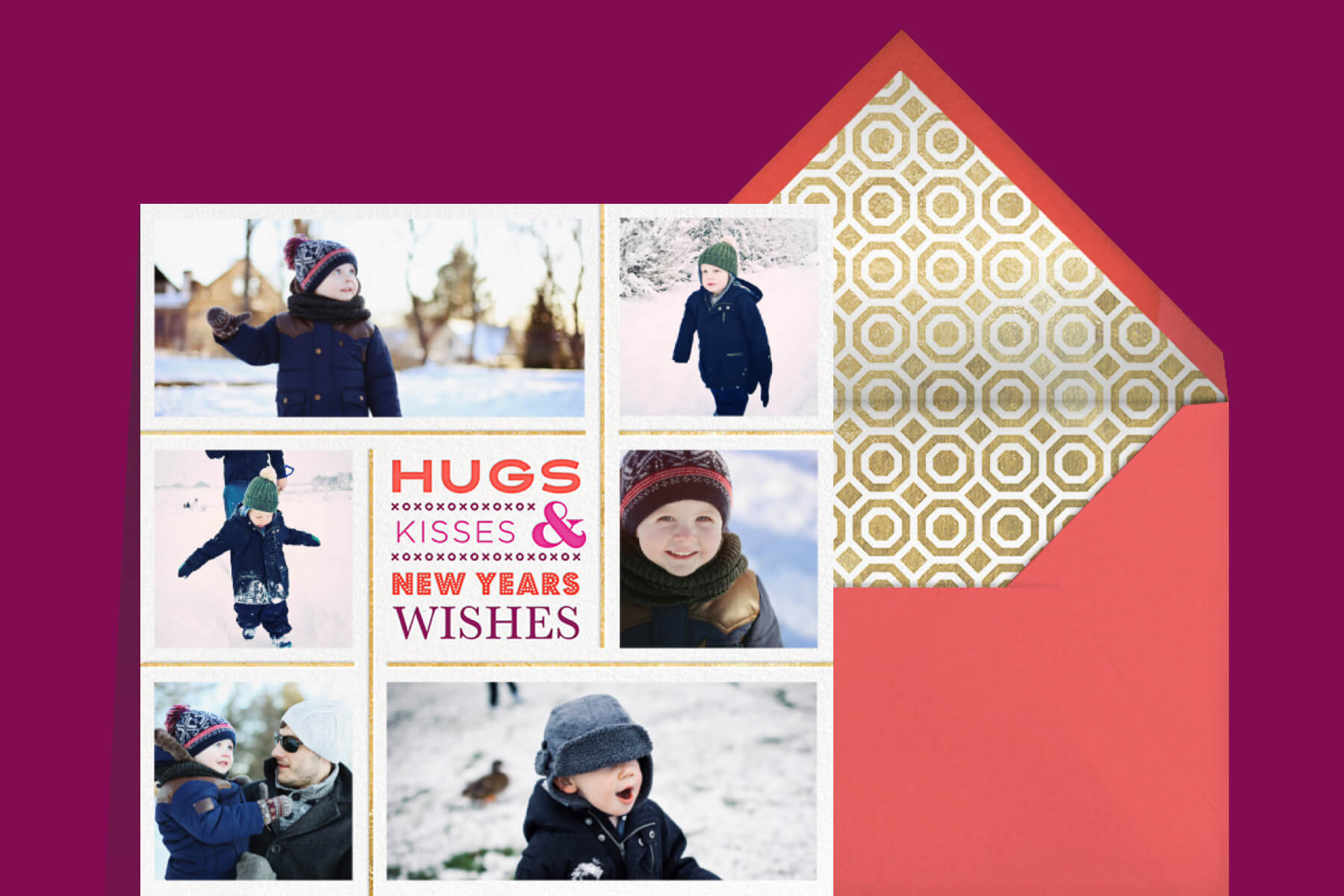 New Years messages for your family featuring a photo New Year greeting card by Jonathan Adler