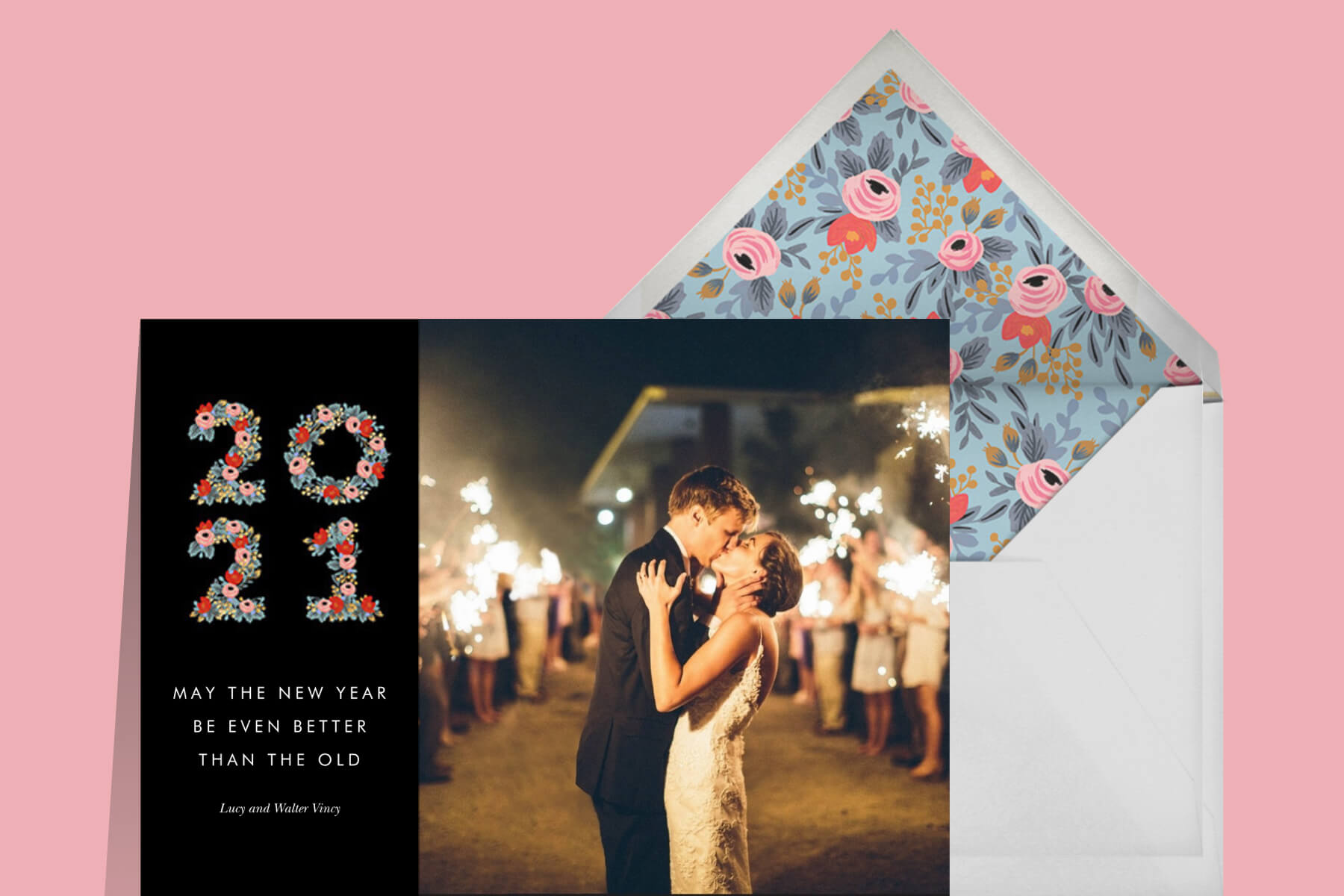 New Years wishes for your love featuring a photo holiday card by Rifle Paper Co.