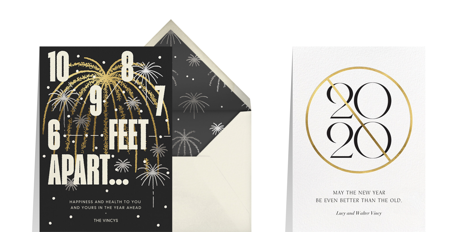 COVID greetings for New Years holiday cards in 2021