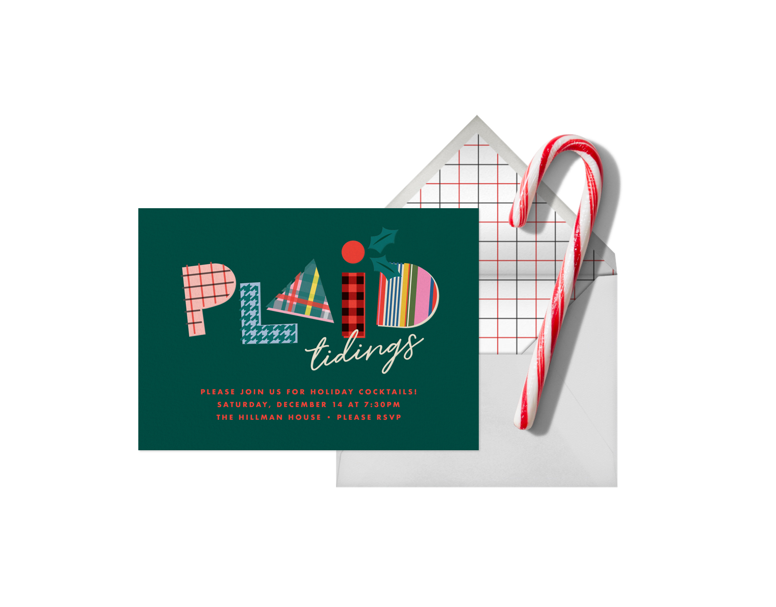 Plaid Tidings by Cheree Berry available at Paperless Post