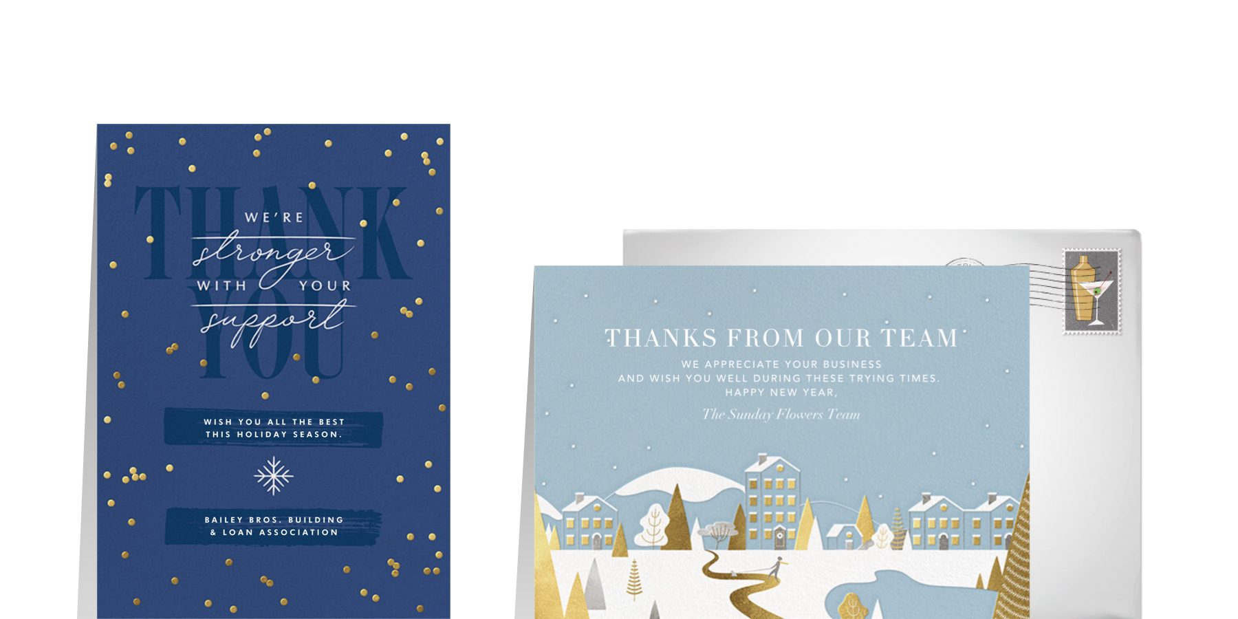 small business greeting cards from Paperless Post for the 2020 holiday season