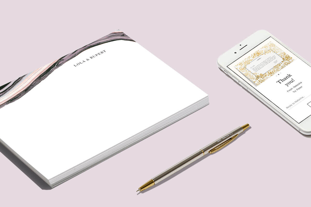 How to write and send your thank you notes on time