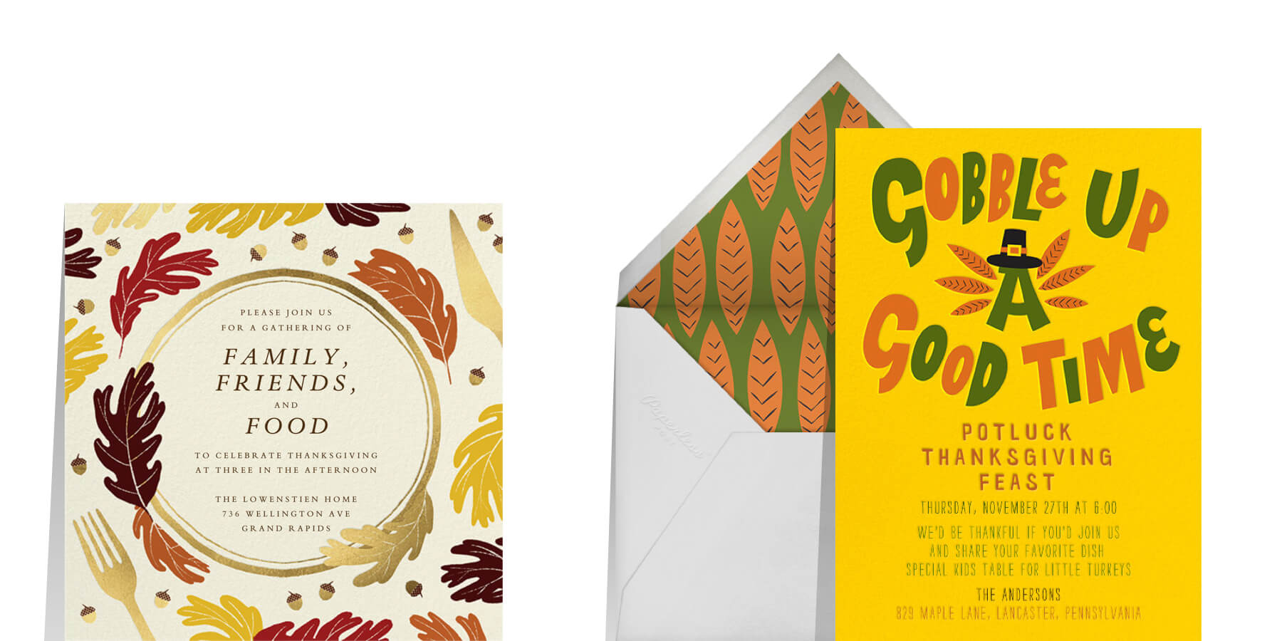 family Thanksgiving invitation wording