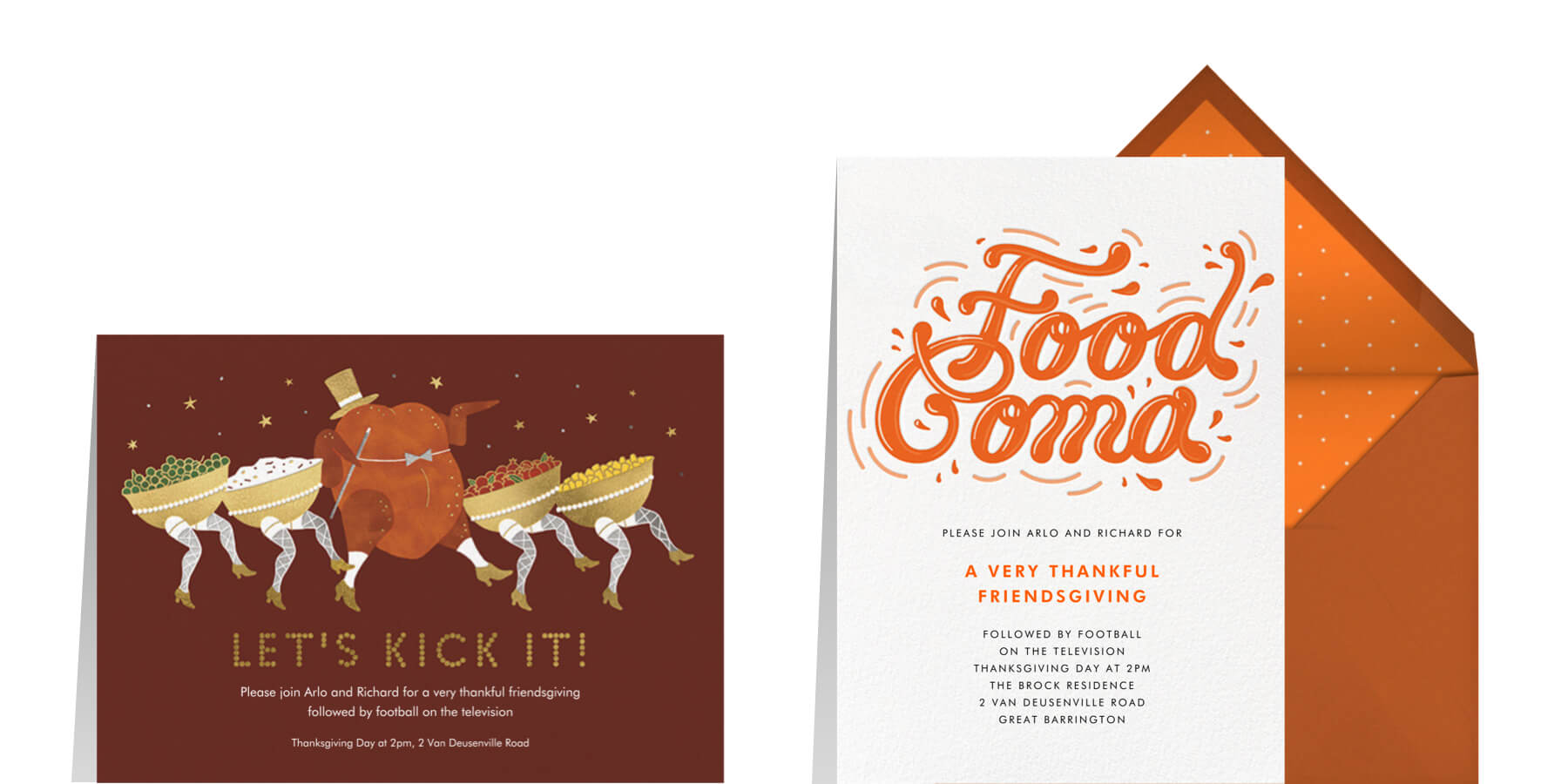 funny Thanksgiving invitation wording