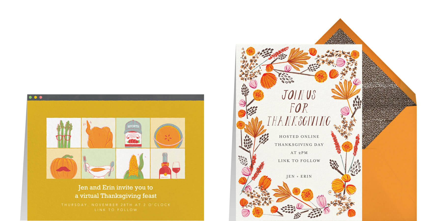 virtual Thanksgiving invitation wording