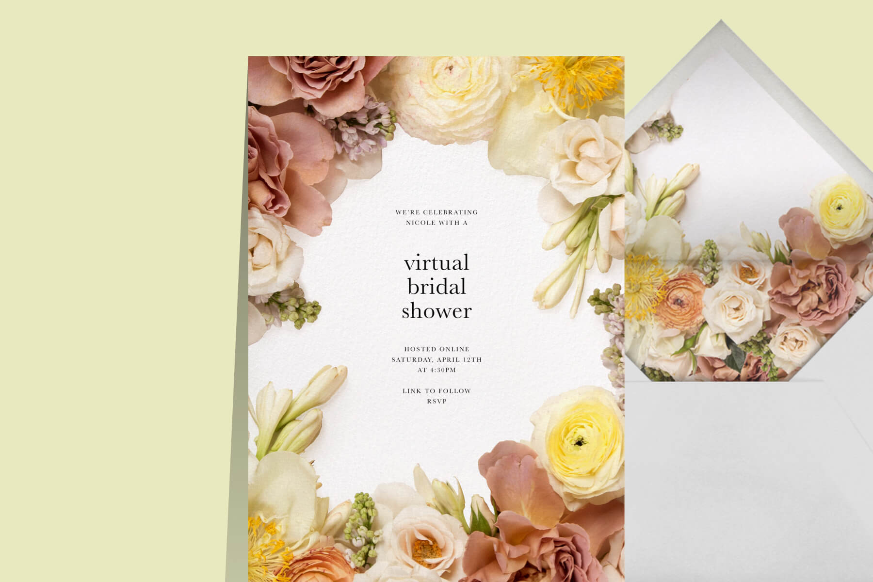 Zoom flower arranging invitation