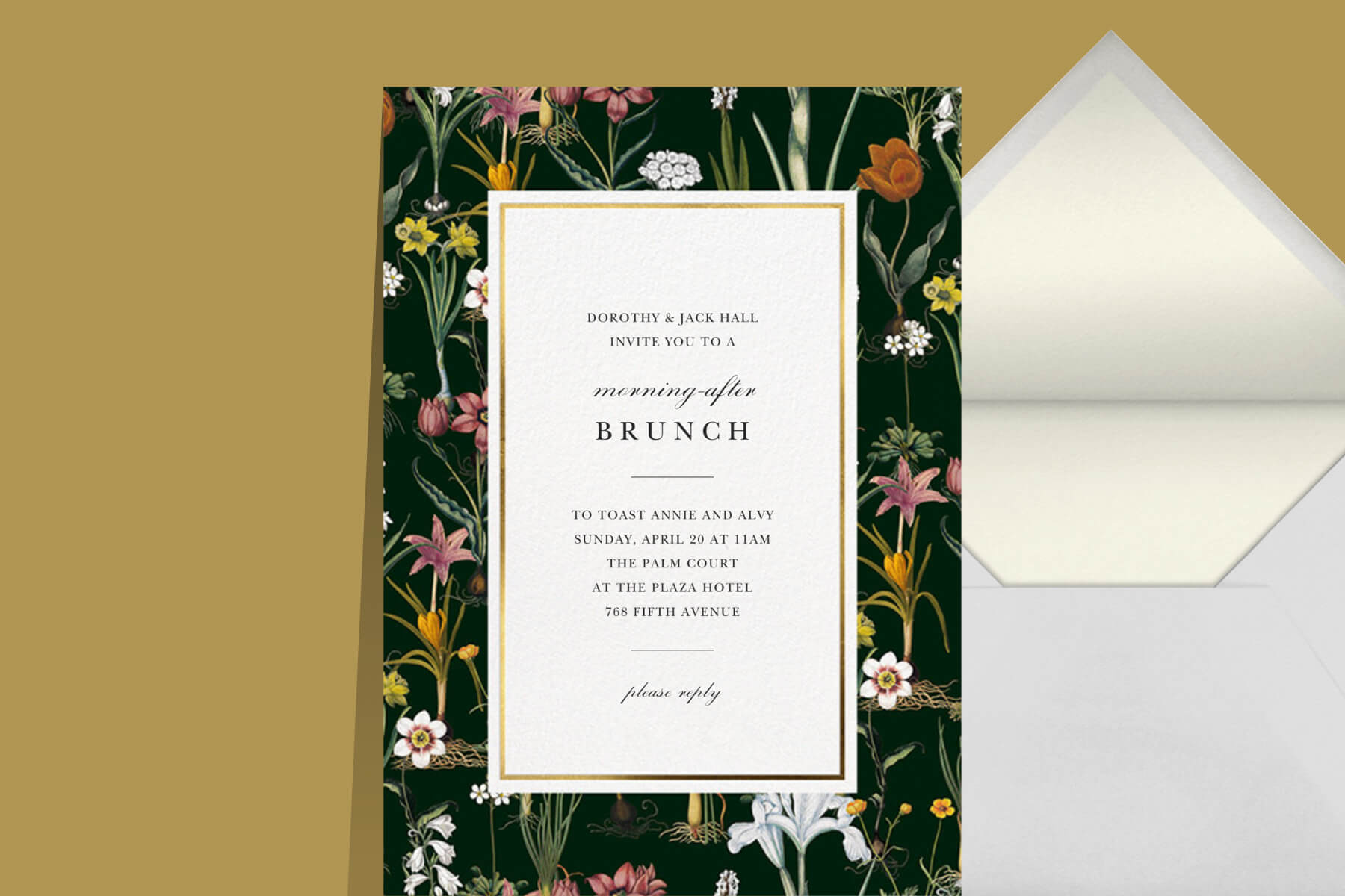 Oscar de la Renta x Paperless Post post-wedding brunch