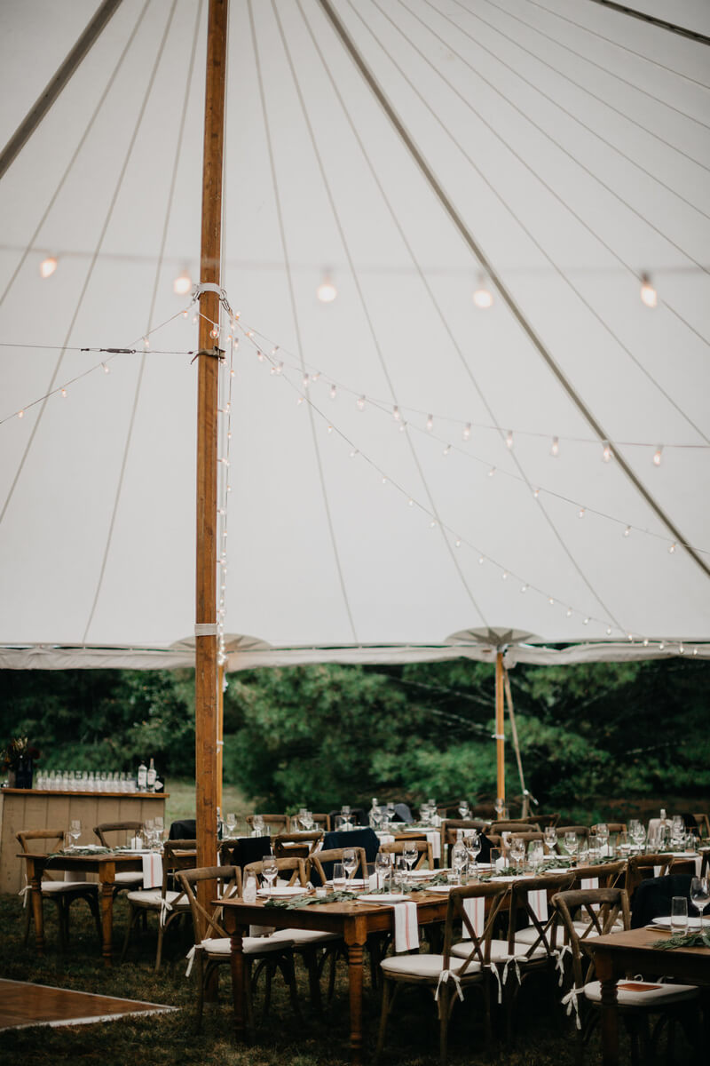 wedding venue logistics and tents