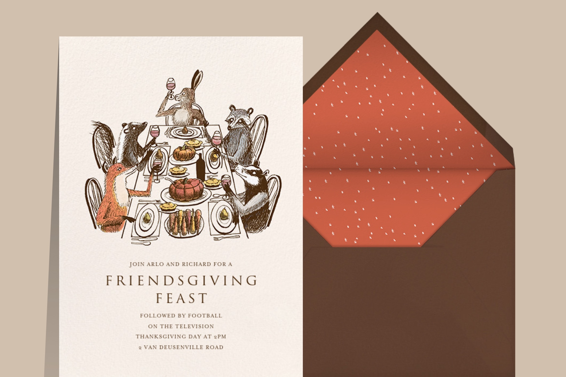 friendsgiving invitations from Paperless Post