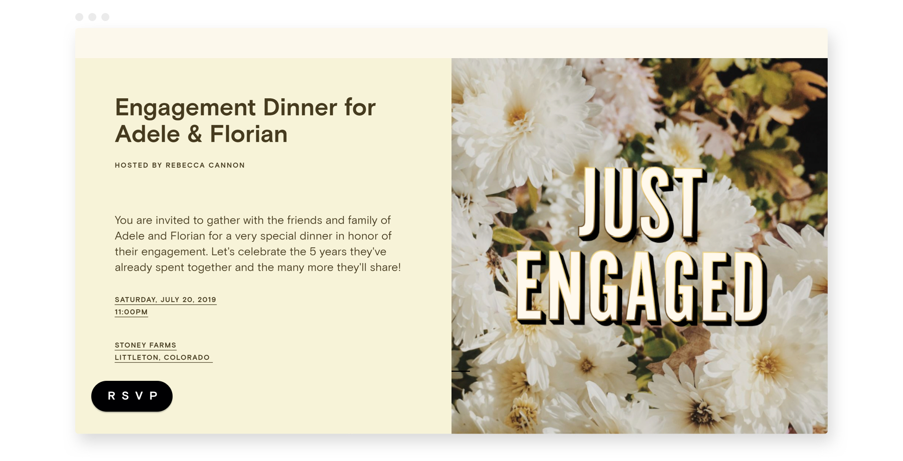engagement party invitations from Paperless Post
