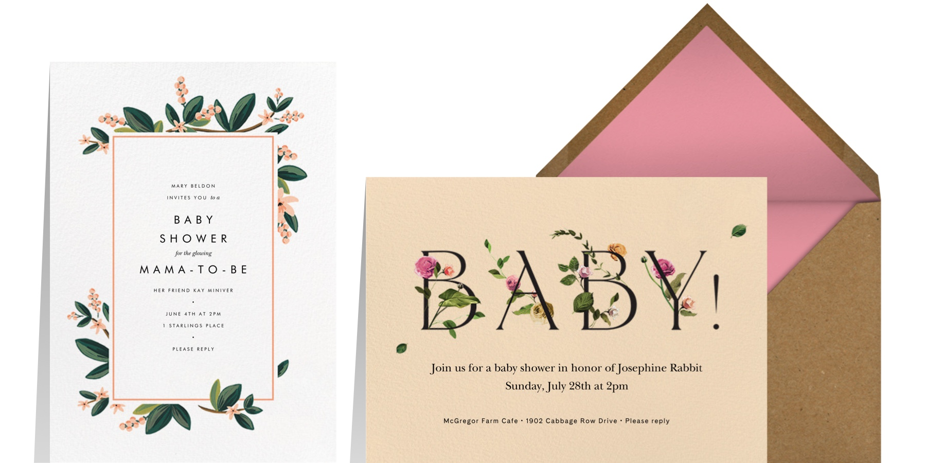 """Left: """"November Herbarium"""" by Rifle Paper Co for Paperless Post 
