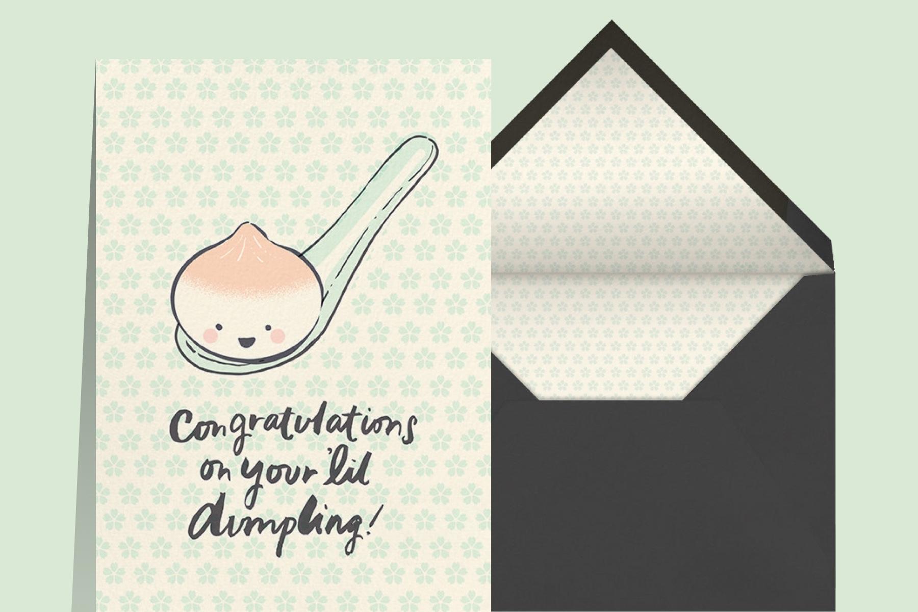 """Little Dumpling"" by Hello!Lucky for Paperless Post"