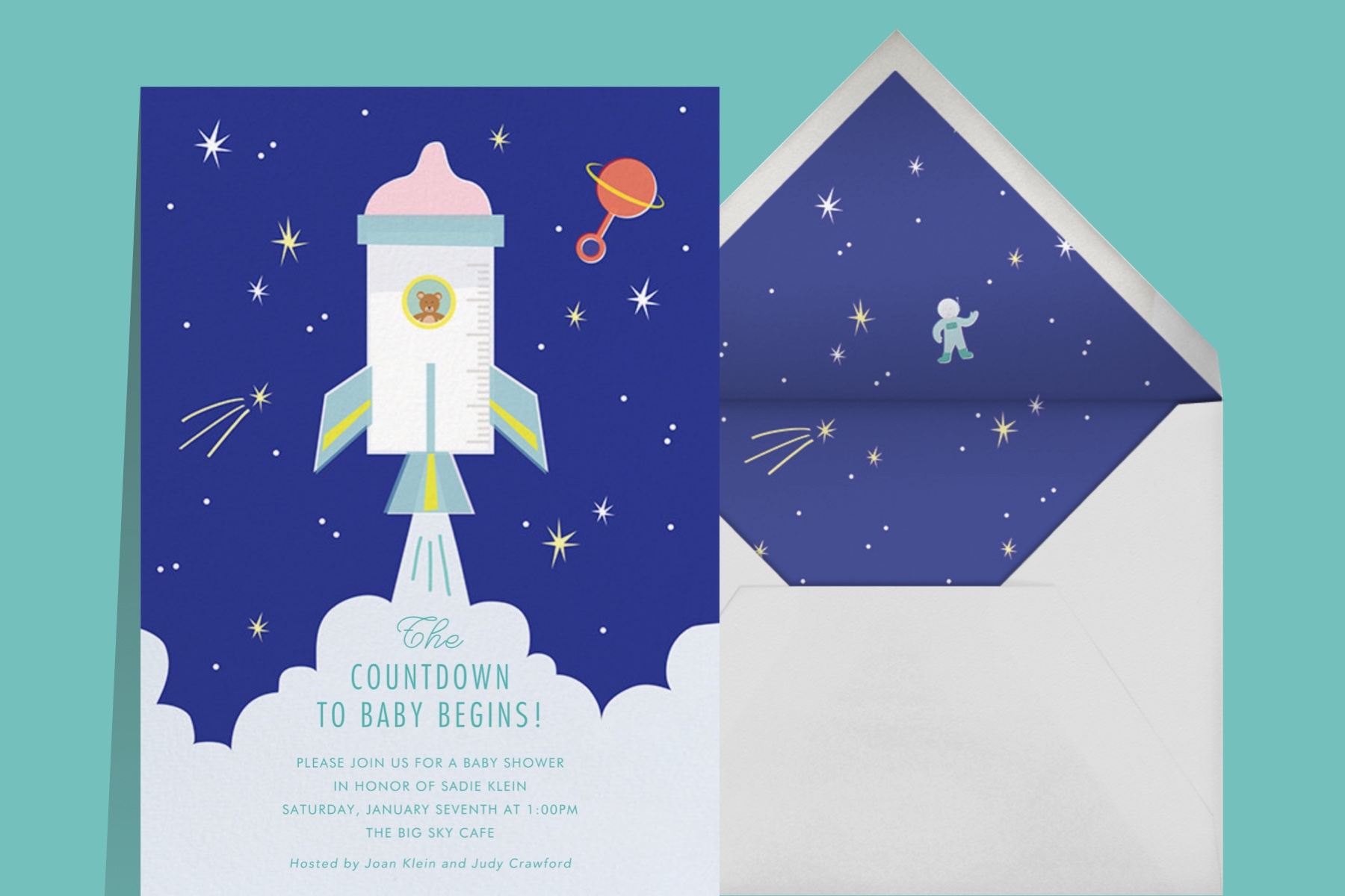 """""""Baby Blast Off"""" by Cheree Berry Paper for Paperless Post"""