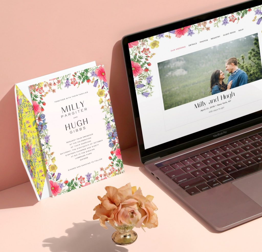 Liberty wedding websites from Paperless Post