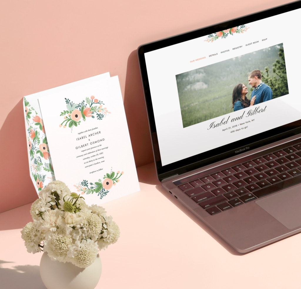 Rifle Paper Co. wedding websites from Paperless Post