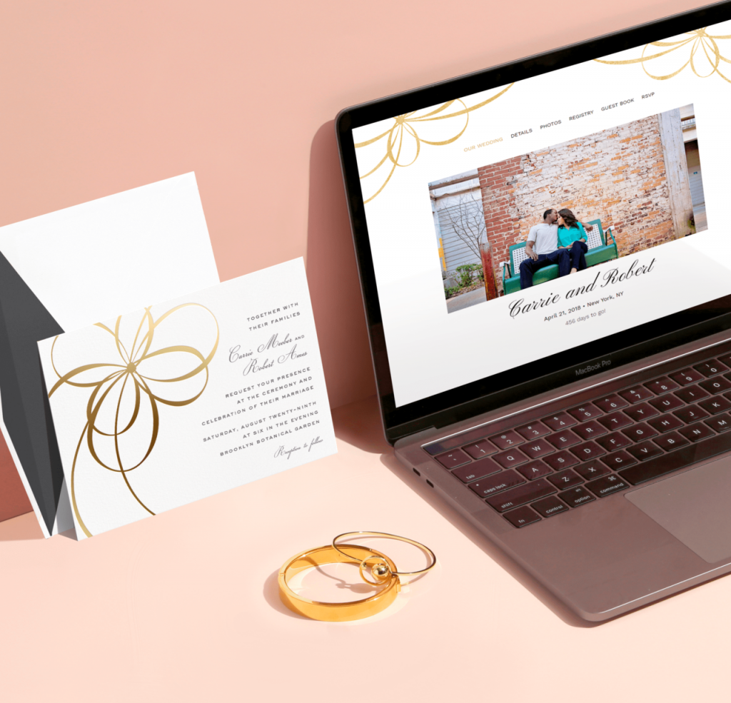 kate spade new york wedding websites from Paperless Post