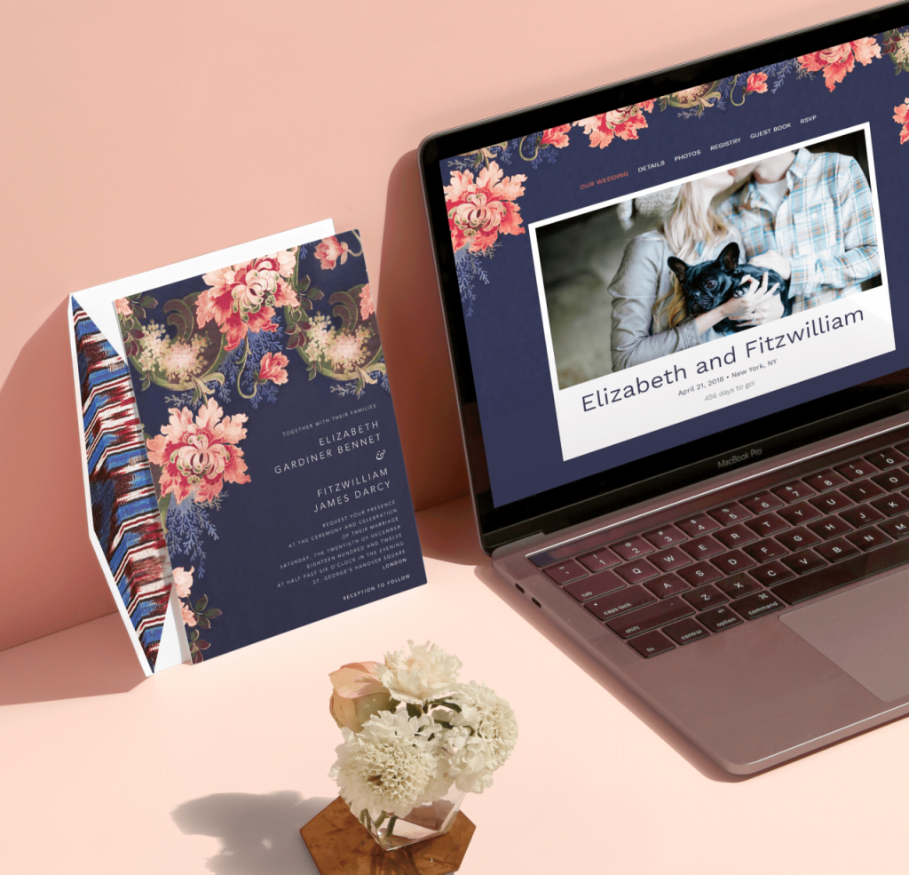Oscar de la Renta wedding websites by Paperless Post