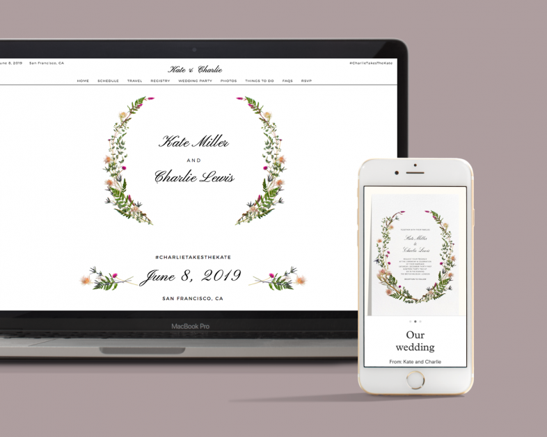 Introducing matching wedding websites and invitations from Zola and ...